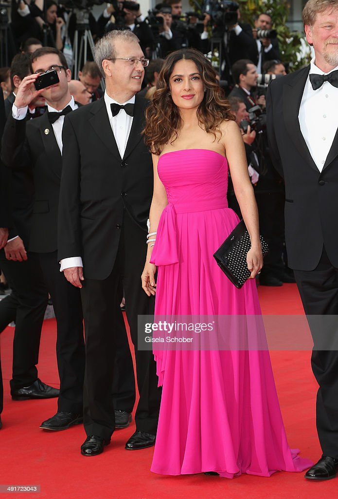 <a gi-track='captionPersonalityLinkClicked' href=/galleries/search?phrase=Salma+Hayek&family=editorial&specificpeople=201844 ng-click='$event.stopPropagation()'>Salma Hayek</a> attends the 'The Prophet' premiere during the 67th Annual Cannes Film Festival on May 17, 2014 in Cannes, France.