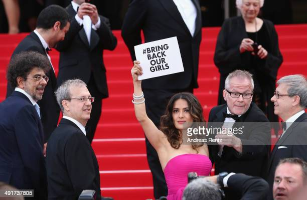 Salma Hayek attends the 'The Prophet' premiere during the 67th Annual Cannes Film Festival on May 17 2014 in Cannes France