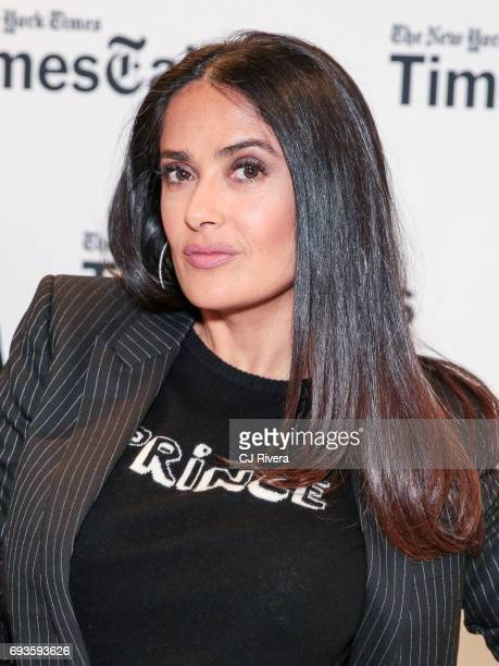 Salma Hayek attends the TimesTalks The Allegory Of 'Beatriz At Dinner' at New School's Tischman Auditorium on June 7 2017 in New York City