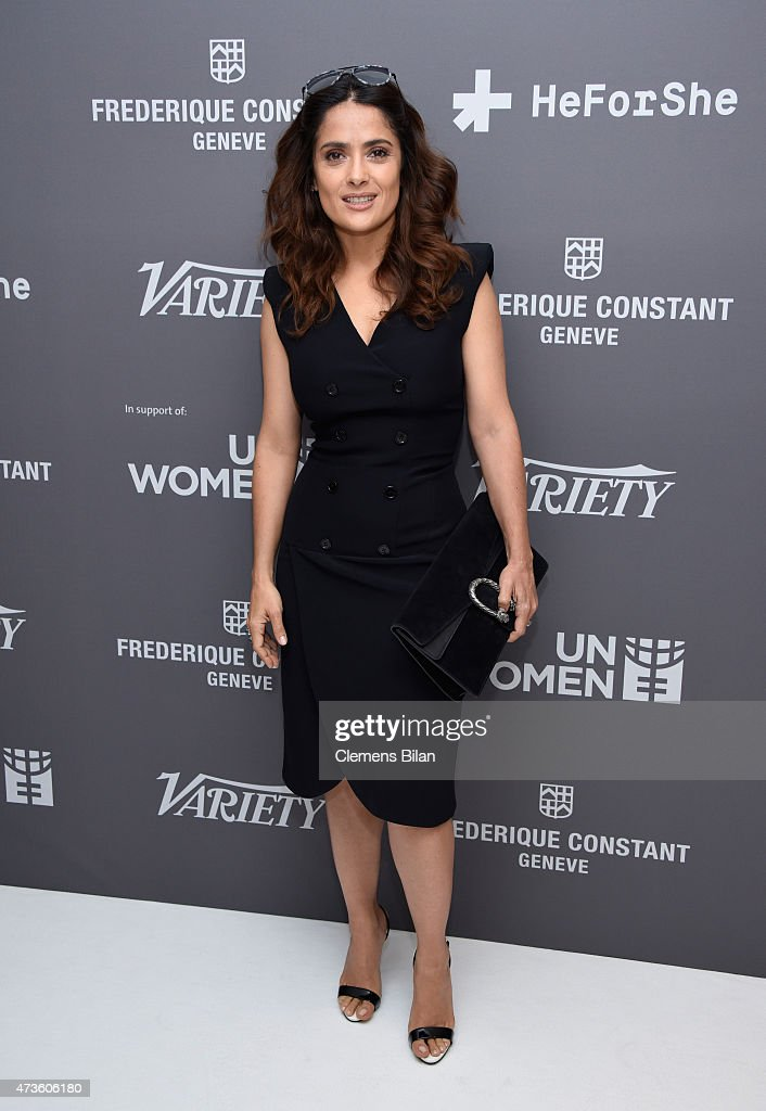 <a gi-track='captionPersonalityLinkClicked' href=/galleries/search?phrase=Salma+Hayek&family=editorial&specificpeople=201844 ng-click='$event.stopPropagation()'>Salma Hayek</a> attends the Variety Celebration of UN Women at Radisson Blu on May 16, 2015 in Cannes, France.