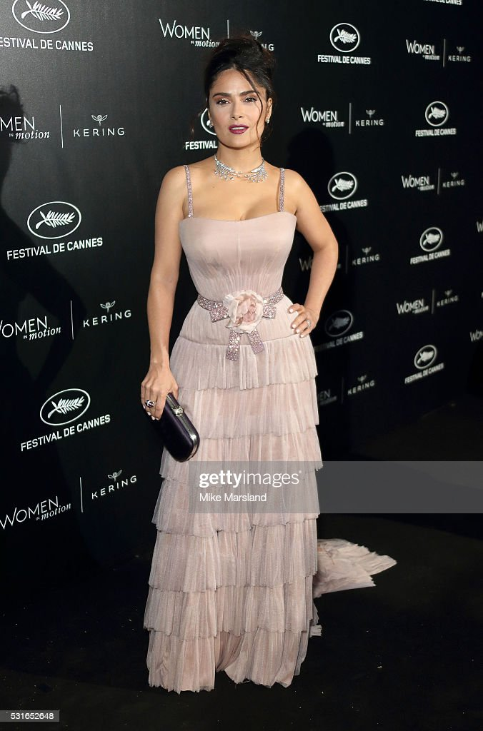 <a gi-track='captionPersonalityLinkClicked' href=/galleries/search?phrase=Salma+Hayek&family=editorial&specificpeople=201844 ng-click='$event.stopPropagation()'>Salma Hayek</a> attends the 'Women in Motion' Prize Reception part of The 69th Annual Cannes Film Festival on May 15, 2016 in Cannes, France.