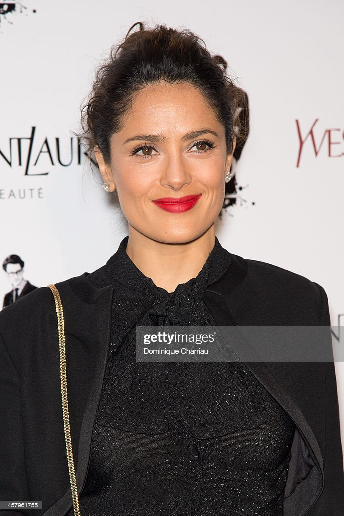 <a gi-track='captionPersonalityLinkClicked' href=/galleries/search?phrase=Salma+Hayek&family=editorial&specificpeople=201844 ng-click='$event.stopPropagation()'>Salma Hayek</a> attends the 'Yves Saint Laurent' Paris Premiere at Cinema UGC Normandie on December 19, 2013 in Paris, France.