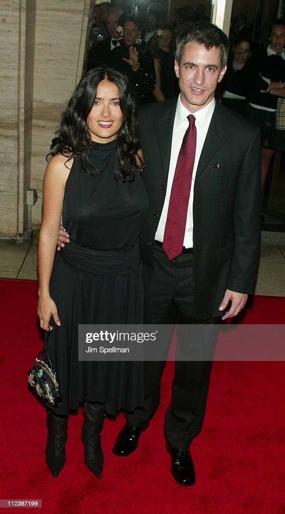 Salma Hayek & Dermot Mulroney during 40th New York Film Festival - Opening Night - 'About Schmidt ' Premiere at Avery Fisher Hall, Lincoln Center in New York, New York, United States.