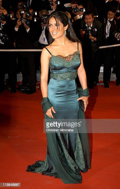 Salma Hayek during 2005 Cannes Film Festival 'Last Days' Premiere at Palais des Festival in Cannes France