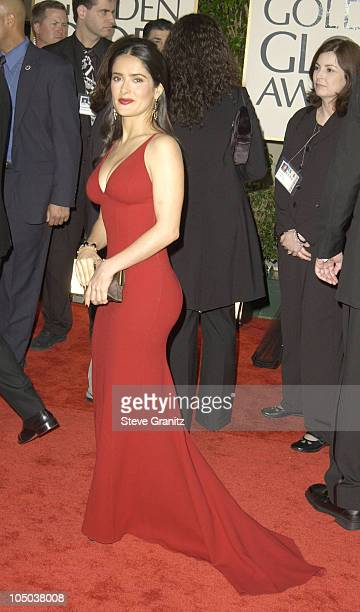 Salma Hayek during The 60th Annual Golden Globe Awards Arrivals at The Beverly Hilton Hotel in Beverly Hills California United States