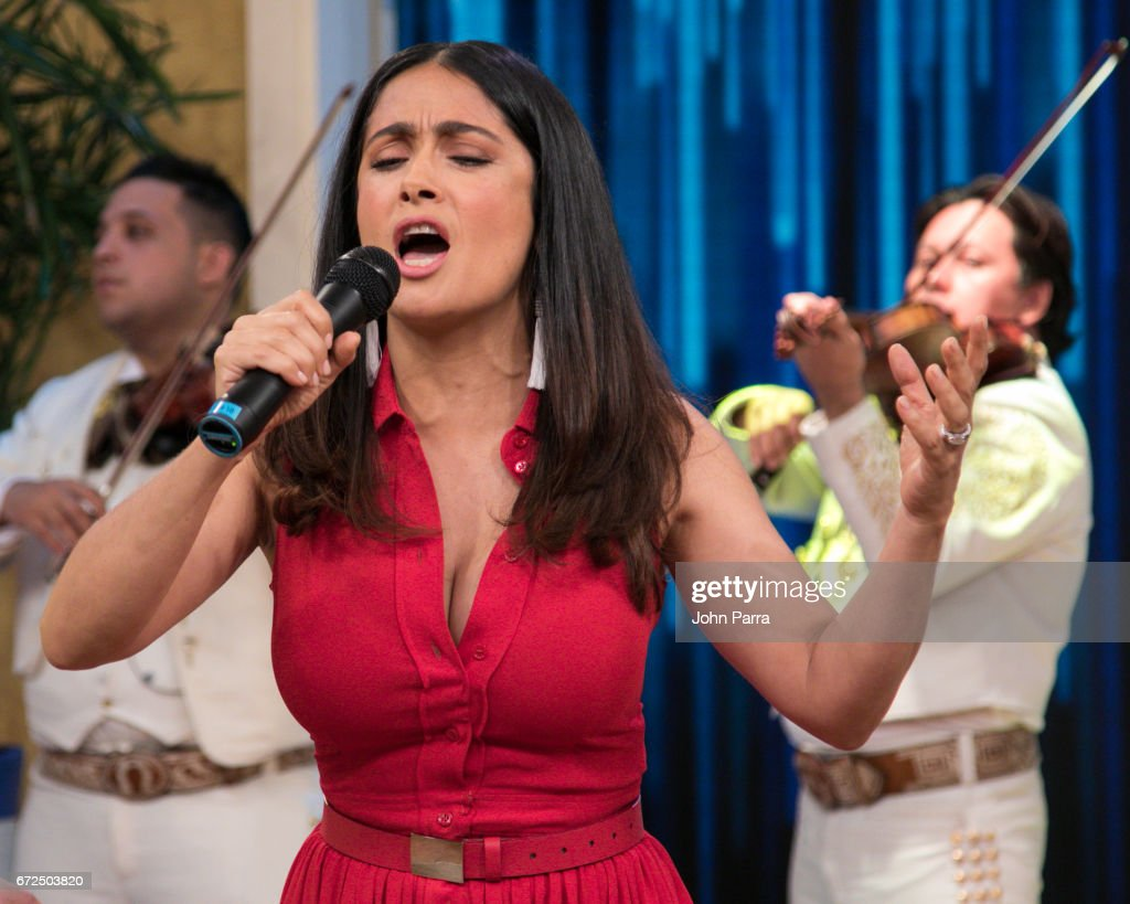 Salma Hayek Is Seen At Despierta America Studio To Promote The Film 'how To  Be