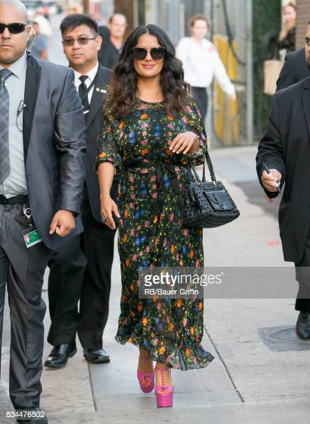 Salma Hayek is seen at 'Jimmy Kimmel Live' on August 17 2017 in Los Angeles California