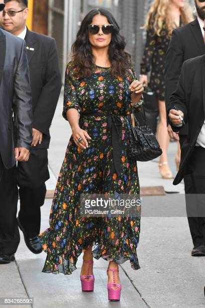 Salma Hayek is seen on August 17 2017 in Los Angeles California