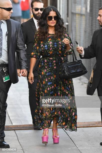 Salma Hayek is seen on August 17 2017 in Los Angeles California