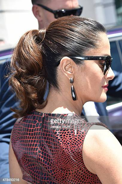 Salma Hayek is seen on day 3 of the 68th annual Cannes Film Festival on May 15 2015 in Cannes France