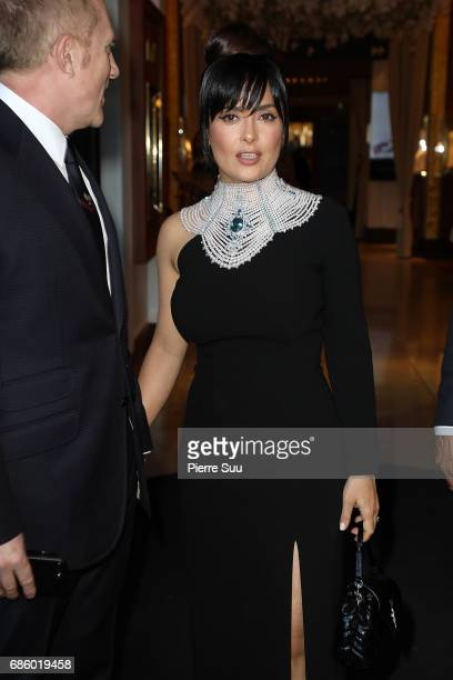 Salma Hayek is spotted during the 70th annual Cannes Film Festival at on May 20 2017 in Cannes France