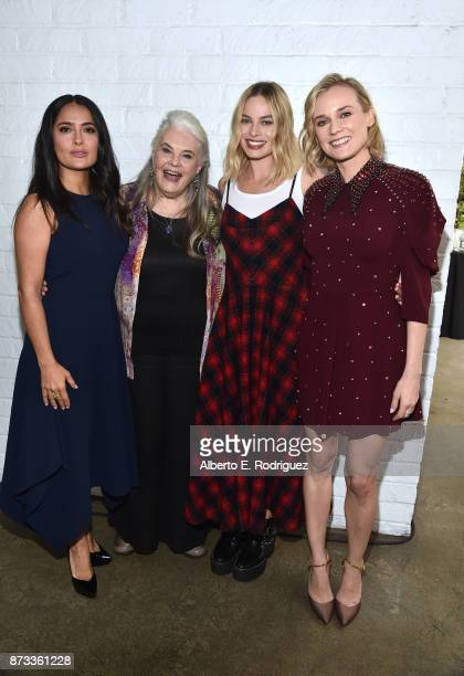 Salma Hayek Lois Smith Margot Robbie and Diane Kruger attend 'Indie Contenders Roundtable' at AFI FEST 2017 Presented By Audi at Hollywood Roosevelt...