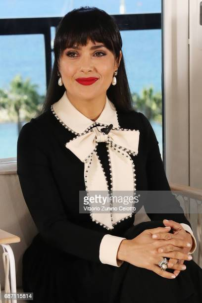 Salma Hayek Pinault attends Kering Talks Women In Motion At The 70th Cannes Film Festival at Hotel Majestic on May 23 2017 in Cannes France