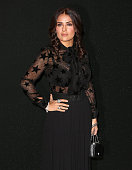Salma Hayek Pinault attends the Saint Laurent show as part of the Paris Fashion Week Womenswear Spring/Summer 2016 on October 5 2015 in Paris France