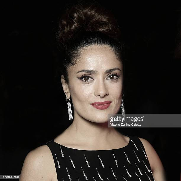 Salma Hayek Pinault poses at the Kering Official Cannes Dinner at Place de la Castre on May 17 2015 in Cannes France