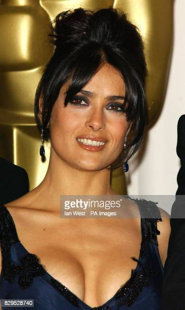 Salma Hayek presenter Best Sound Mixing and Best Sound Editing