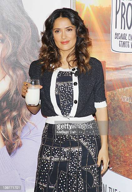 Salma Hayek teams up with National Milk Mustache 'Got Milk' Campaign to launch the 'Breakfast Project' held at L'Ermitage Beverly Hills Hotel on...