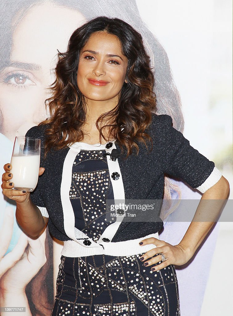 Salma Hayek teams up with National Milk Mustache 'Got Milk?' Campaign to launch the 'Breakfast Project' held at L'Ermitage Beverly Hills Hotel on February 24, 2012 in Beverly Hills, California.