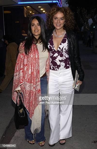 Salma Hayek Valeria Golino during Sony Pictures Classics and Venice Magazine's Premiere For 'Respiro' at Laemmle's Monicas in Santa Monica California...