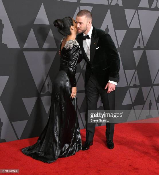 Salma HayekJustin Timberlake arrives at the Academy Of Motion Picture Arts And Sciences' 9th Annual Governors Awards at The Ray Dolby Ballroom at...