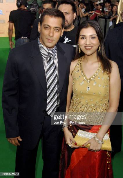 Salman Khan and guest arrive at the Hallam FM Arena for the International Indian Film Academy awards in Sheffield England