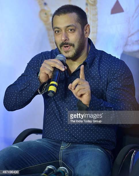 Salman Khan at an event regarding his movie Prem Ratan Dhan Payo in Mumbai
