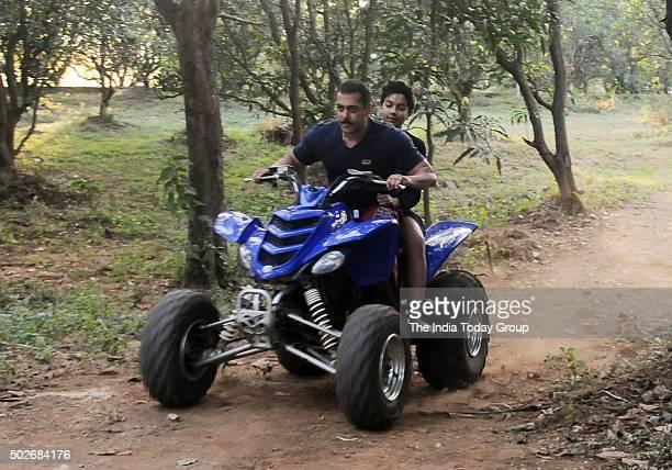 Salman Khan at his farm house on his 50th birthday in Mumbai