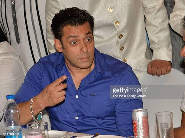 Salman Khan at MLA Baba Siddiquis annual Iftar Party in Mumbai