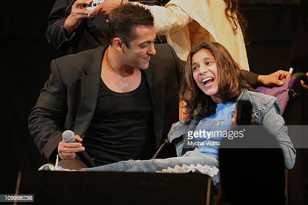 Salman Khan during Bollywood Rock Stars at Nassau Coliseium May 22 2006 at Nassau Coliseium in Hempstead New York United States