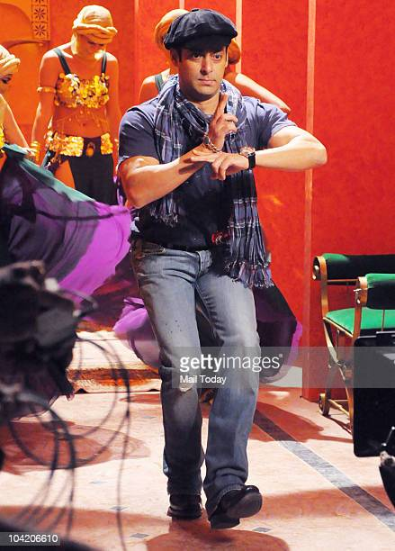 Salman Khan during the shooting of a video for the reality show Bigg Boss in Mumbai on September 16 2010