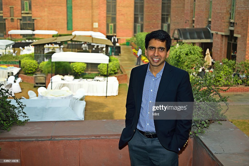 Salman Khan, the promoter of US based Khan Academy, poses during an exclusive interview at India Habitat Centre on December 3, 2015 in New Delhi, India.