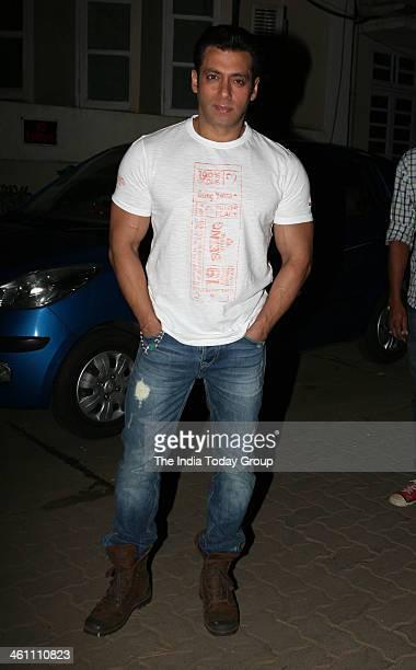 Salman Khan spotted during a shoot in Mehboob Studios in Mumbai