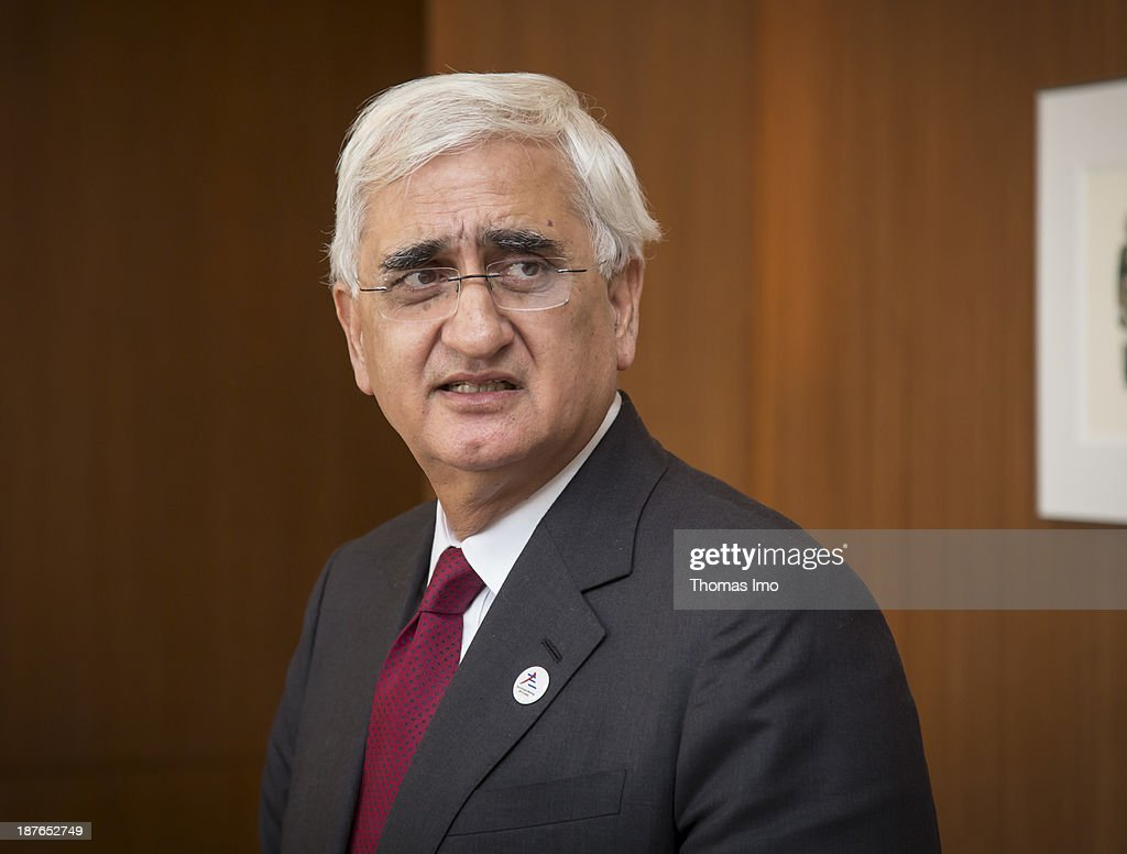 <a gi-track='captionPersonalityLinkClicked' href=/galleries/search?phrase=Salman+Khurshid&family=editorial&specificpeople=2570174 ng-click='$event.stopPropagation()'>Salman Khurshid</a>, Minister of External Affairs of India, during a meeting of the ASEM foreign ministers on November 11, 2013 in New Delhi, India. The ASEM offers a platform for an informal process of dialogue, bringing together European countries and the European Commission with Asian countries. The 11th ASEM Foreign Minister' meeting is using the proposed theme 'Bridge to Partnership for Growth and Development' as its platform.