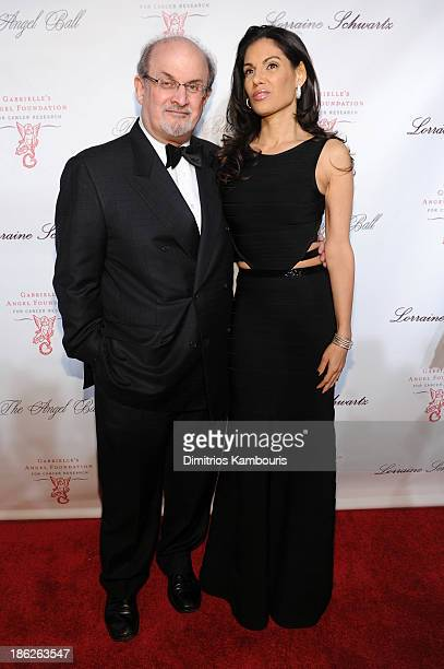 Salman Rushdie and Missy Brody attend Gabrielle's Angel Foundation Hosts Angel Ball 2013 at Cipriani Wall Street on October 29 2013 in New York City