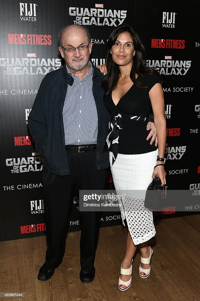 <a gi-track='captionPersonalityLinkClicked' href=/galleries/search?phrase=Salman+Rushdie&family=editorial&specificpeople=203293 ng-click='$event.stopPropagation()'>Salman Rushdie</a> (L) and Missy Brody attend The Cinema Society with Men's Fitness and FIJI Water special screening of Marvel's 'Guardians of the Galaxy' at Crosby Street Hotel on July 29, 2014 in New York City.