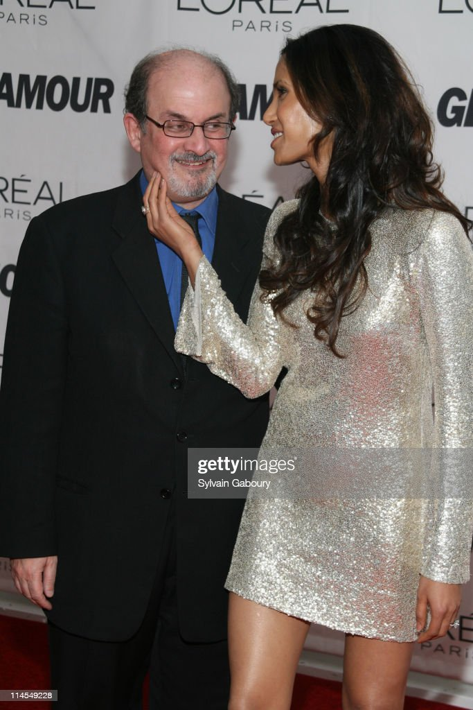 Salman Rushdie and Padma Lakshmi during Glamour Magazine 2006 Women of the Year Awards Inside Arrivals at Carnegie Hall at 154 West 57th Street at...