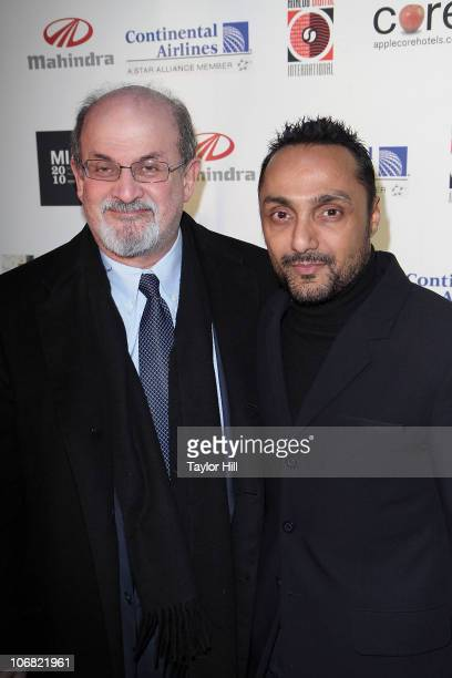 Salman Rushdie and Rahul Bose attend the closing night of the 10th annual Mahindra IndoAmerican Arts Film Festival at the SVA Theater on November 13...