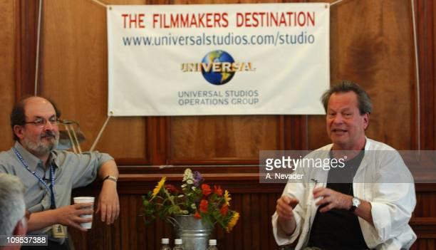 Salman Rushdie and Terry Gilliam during 2002 Telluride Film FestivalTerry Gilliam in Conversation with Salman Rushdie at Telluride Courthouse in...