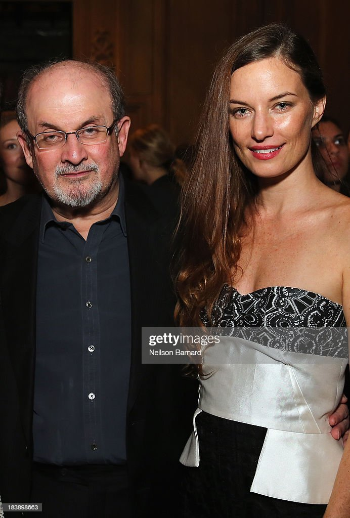 <a gi-track='captionPersonalityLinkClicked' href=/galleries/search?phrase=Salman+Rushdie&family=editorial&specificpeople=203293 ng-click='$event.stopPropagation()'>Salman Rushdie</a> and Topaz Page-Green attend The Lunchbox Fund Fall Fête at Buddakan, New York on October 9, 2013 in New York City.
