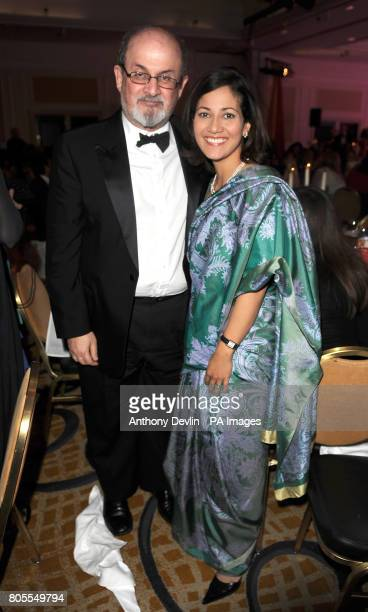 Salman Rushdie and TV presenter Mishal Husain at the Women of the Future awards event at the Marriott Hotel London