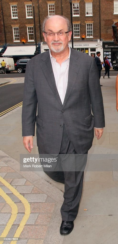 Salman Rushdie at the Chiltern Firehouse on June 19, 2014 in London, England.