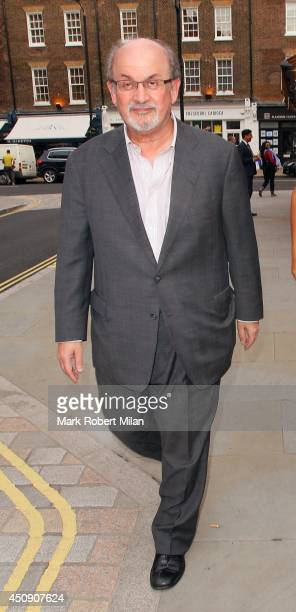 Salman Rushdie at the Chiltern Firehouse on June 19 2014 in London England