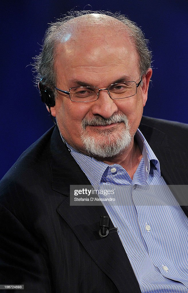 <a gi-track='captionPersonalityLinkClicked' href=/galleries/search?phrase=Salman+Rushdie&family=editorial&specificpeople=203293 ng-click='$event.stopPropagation()'>Salman Rushdie</a> attends 'Che Tempo Che Fa' Italian TV Show on November 19, 2012 in Milan, Italy.