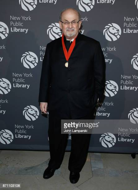 Salman Rushdie attends the New York Public Library 2017 Library Lions Gala at the New York Public Library at the Stephen A Schwarzman Building on...