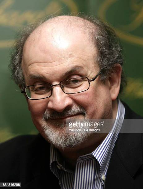 Salman Rushdie during a signing for his book 'The Enchantress of Florence' at Hatchard in Piccadilly central London Picture date should read Monday...