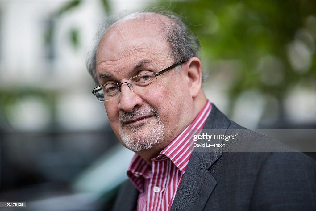 Salman Rushdie writer at the Cheltenham Literature Festival on October 10 2015 in Cheltenham England