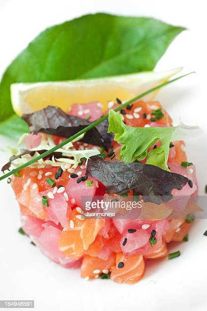 Salmon and ahi tuna ceviche