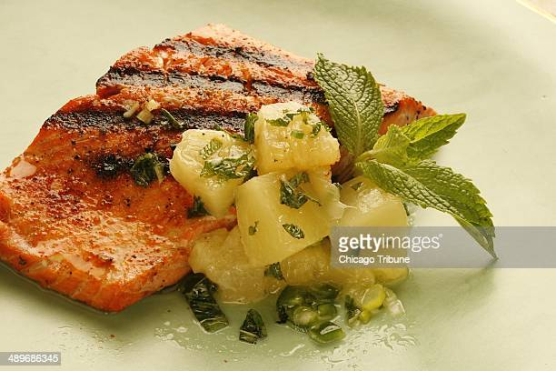 Salmon by itself can handle nearly any color of wine Light red white pink all will do The style of wine is more important Here the salmon is...
