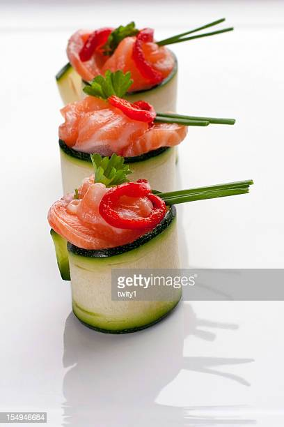 Salmon canapes roll
