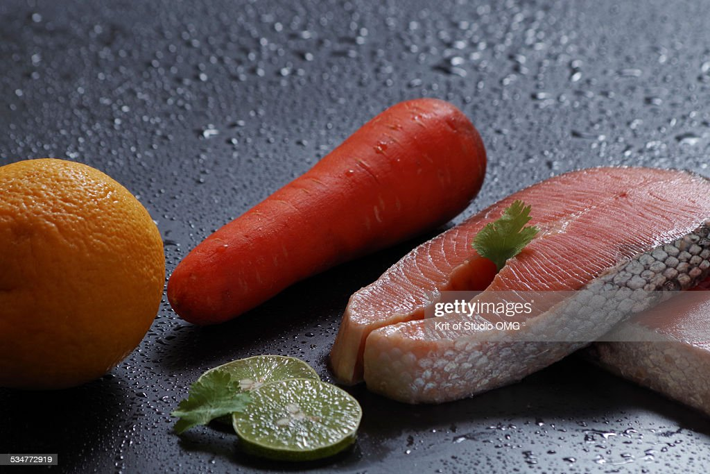 Salmon Carrot Lome Orange
